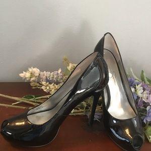 Jessica Simpson patten leather heels